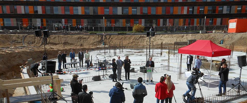 Grundsteinlegung Umweltbundesamt Dessau